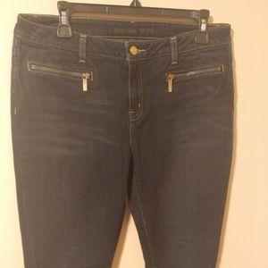 Michael Kors Zip Pocket Skinny Straight Jeans 10